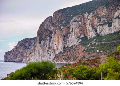 "Beautiful coast of ""pan di zucchero"" in Sardinia"