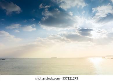 Beautiful coast of Qingdao