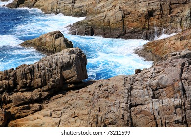 Beautiful coast and wave in Thailand's island