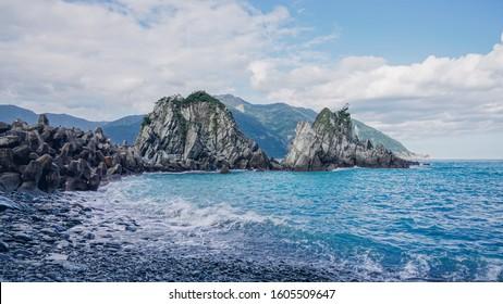 The beautiful coast in Yilan, Dong'ao Bay, Fenniaolin