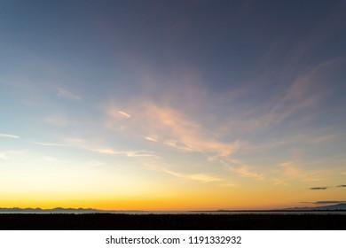A Beautiful Coastal Sunset Sky