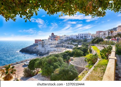 Beautiful coastal town in  Santa Cesarea Terme in Salento region of Italy. Villa Sticchi in Salento Apulia region Lecce south Italy