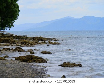 Beautiful coastal view at a beach in Davao del Norte, southern Philippines.