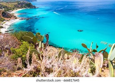 Beautiful coastline of Calabria, Italy. Capo Vaticano.