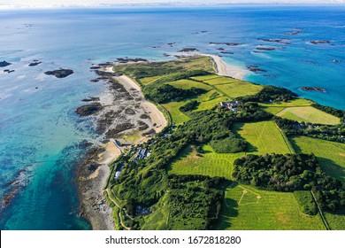 Beautiful coastline of the Herm Island.