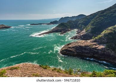Beautiful coastline of Hyuga cape in Miyazaki, Kyushu