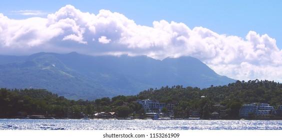 beautiful coastline at Sabang, Puerto Galera, Oriental Mindoro, Philippines