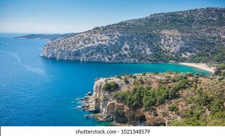 Beautiful  coastline view, Thassos island, Greece