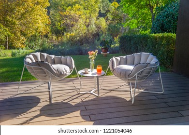 beautiful coffee table with chairs