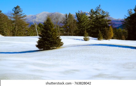 Beautiful cold winter mountain landscape