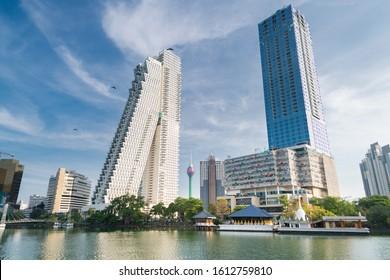 Beautiful Colombo city building and skyline in Sri Lanka