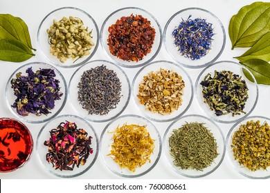 Beautiful color herbal tea