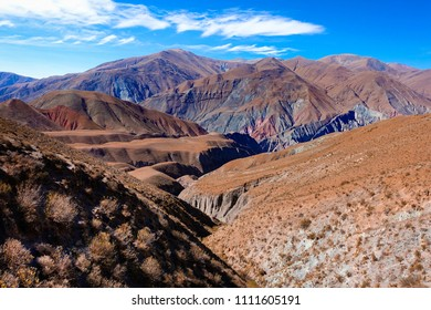 Beautiful colored mountains around Iruya in the Salta province in Argentina.