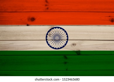 beautiful colored national flag of india state, concept of tourism, economy and politics, closeup