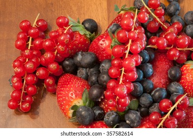 beautiful colored and tasty berries