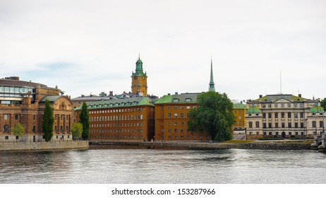 Beautiful colorful architecture of the center of Stockholm, Sweden
