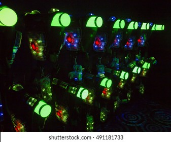 beautiful colorful background indoor laser tag
