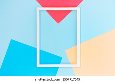 Beautiful colorful background with a white frame.