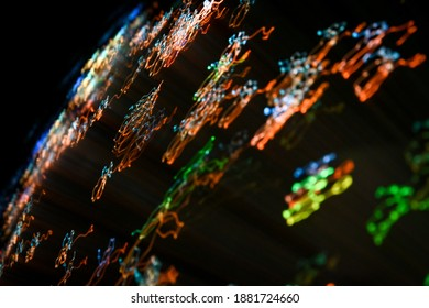 beautiful colorful bright light painting