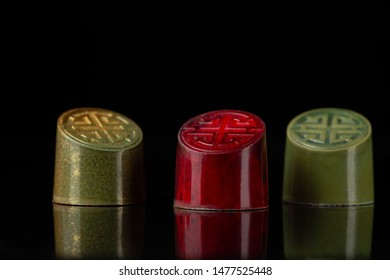 Beautiful and colorful chocolate bonbons