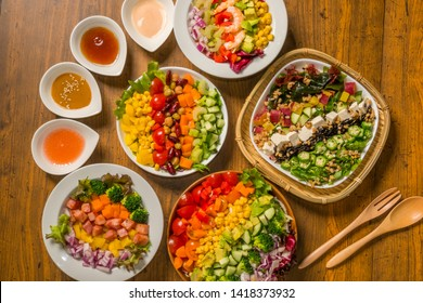 Beautiful and colorful chopped salad