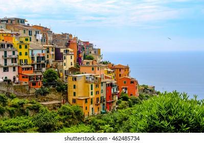 Beautiful colorful cityscape Cinque terre