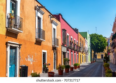 Beautiful colorful colonial street in the historic center