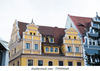 Beautiful colorful european meideval style houses of old town