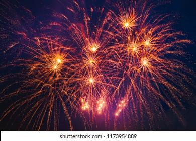 Beautiful colorful firework