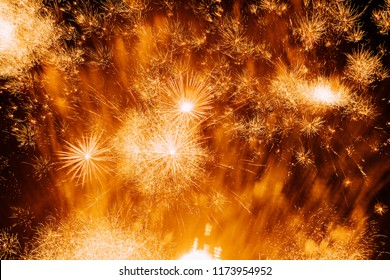 Beautiful colorful firework