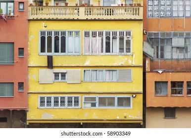 Beautiful, colorful mediterranean architecture