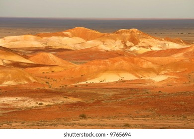 Beautiful colorful Moon plain where they filmed many movies. Australia