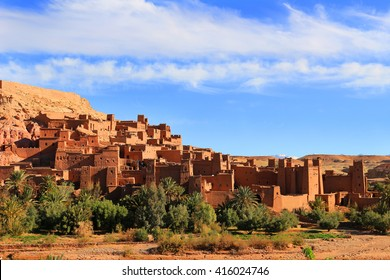 Beautiful and colorful ochre village of Ait Benhaddou a ksar  in Morocco