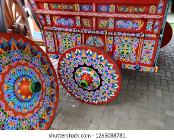 Beautiful Colorful old Oxcart from Costa Rica