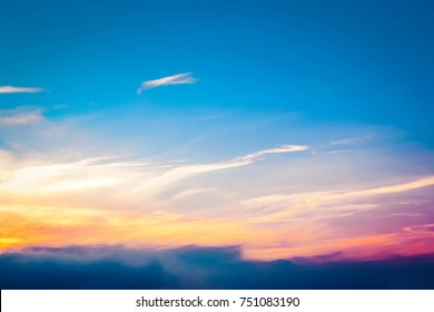 Beautiful colorful sky with cloud