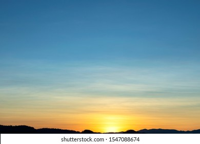 beautiful colorful sunset or sunrise sky for background