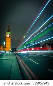Beautiful colors of Big Ben from Westminster Bridge