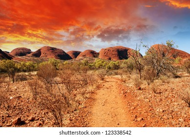 Beautiful colors and landscape of Australian Outback.