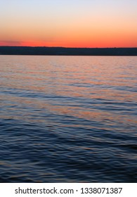 Beautiful colors reflect off Lake Superior in northern Michigan.