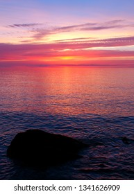 Beautiful colors reflect off Lake Superior in northern Michigan