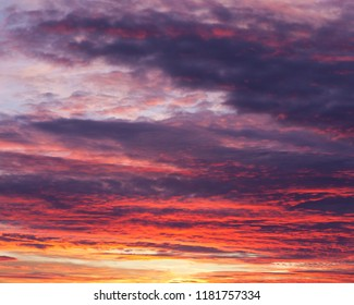 Beautiful colors sunset clouds sky background