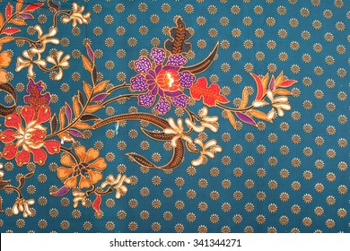 The beautiful and colourful of art Malaysian and Indonesian Batik Pattern