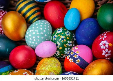 Beautiful colourful handmade easter eggs. Great idea to decorate your Easter eggs. Happy Easter.