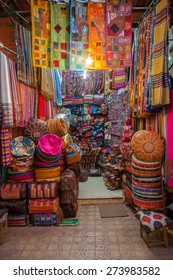Beautiful Colours In The Marrakech Souk