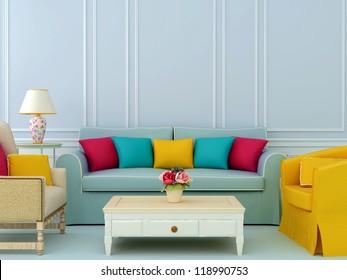Kleurrijk Interieur Stock Illustrations, Images & Vectors | Shutterstock