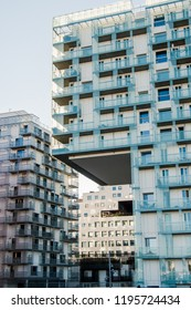 beautiful contemporary buildings at Barcode district, Oslo, Norway