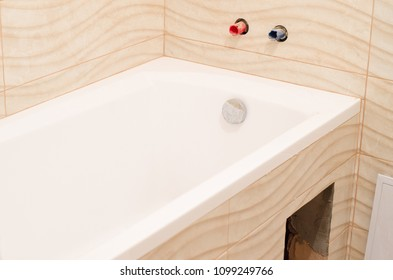 beautiful cool bathroom, background