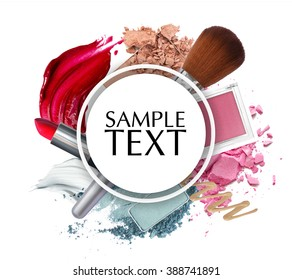 beautiful cosmetic promotion circle frame