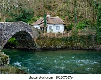 Beautiful cosy english thatched cottage on the River Exe next to an old bridge