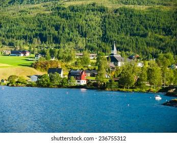 Beautiful country landscape, Norway, Scandinavia